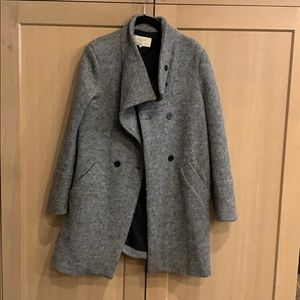 Wool/polyester coat